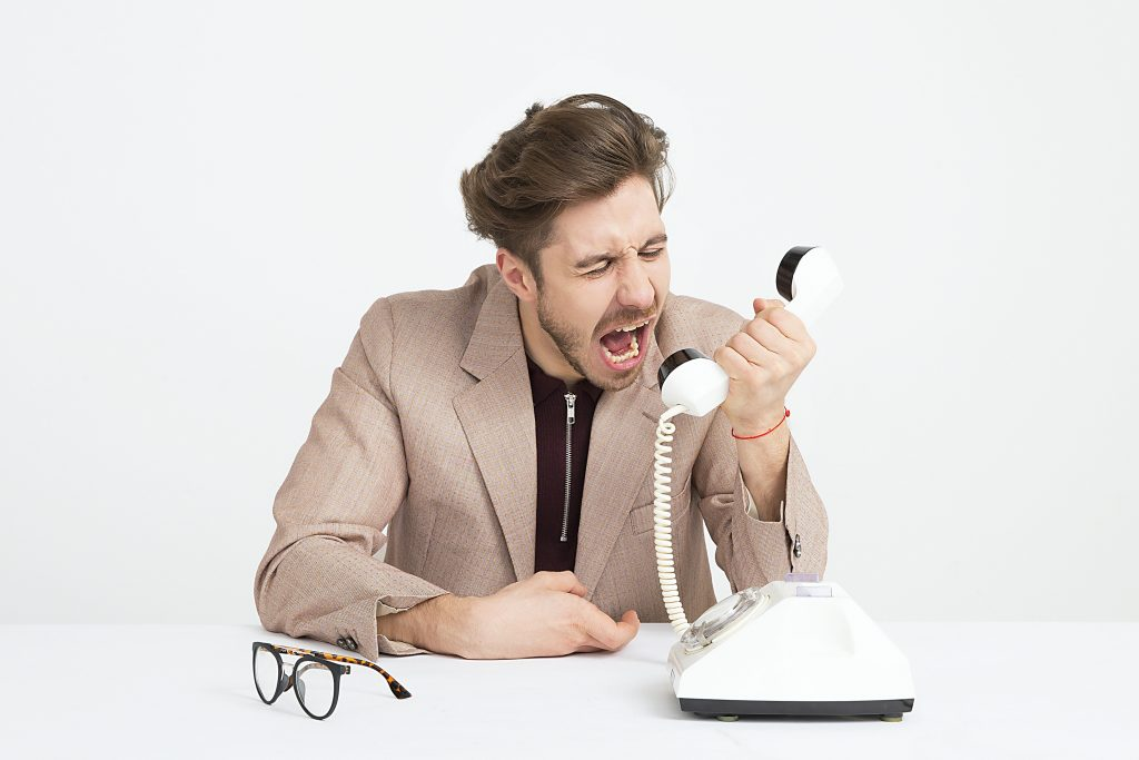 man shouting, have better conversations
